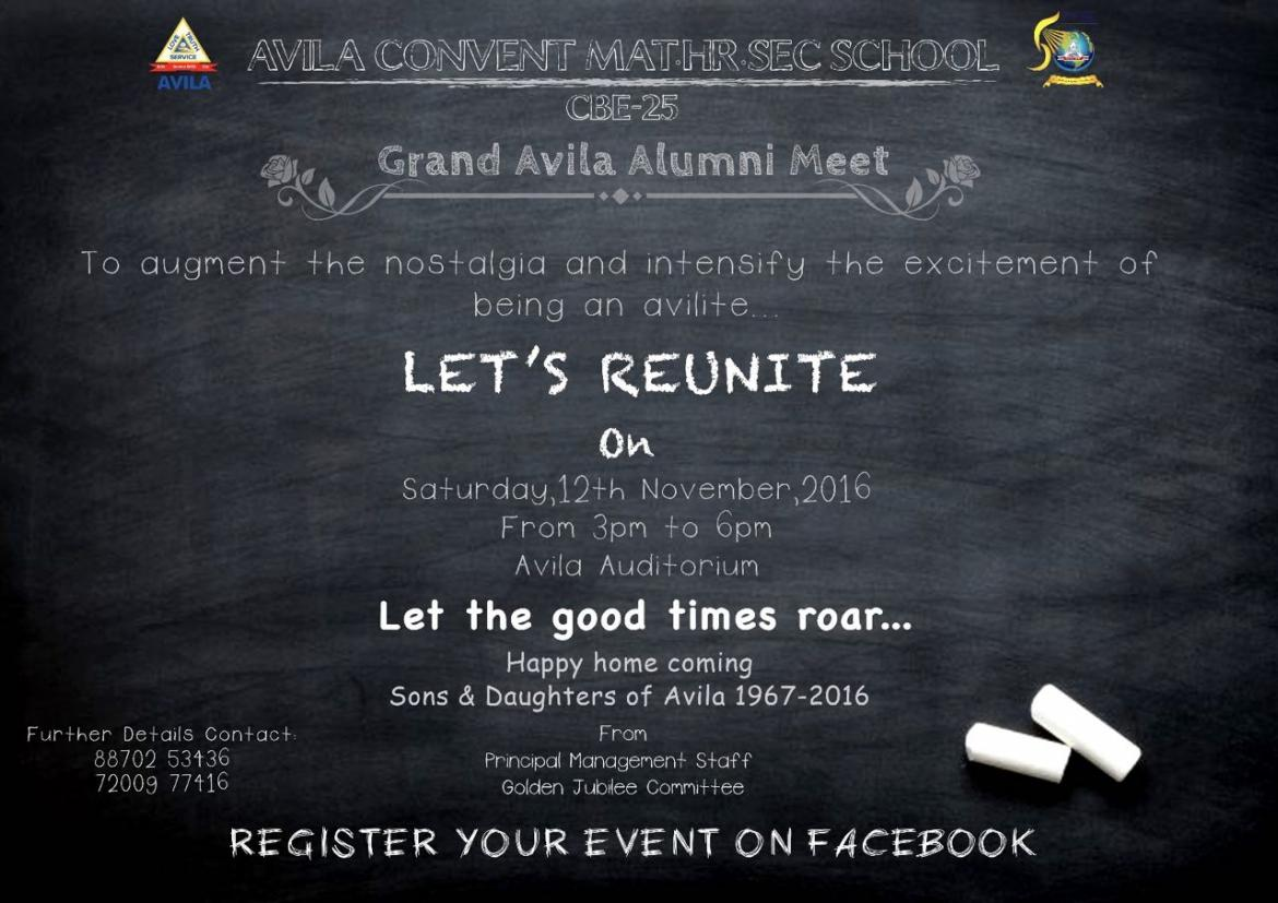 name for alumni meet invitation