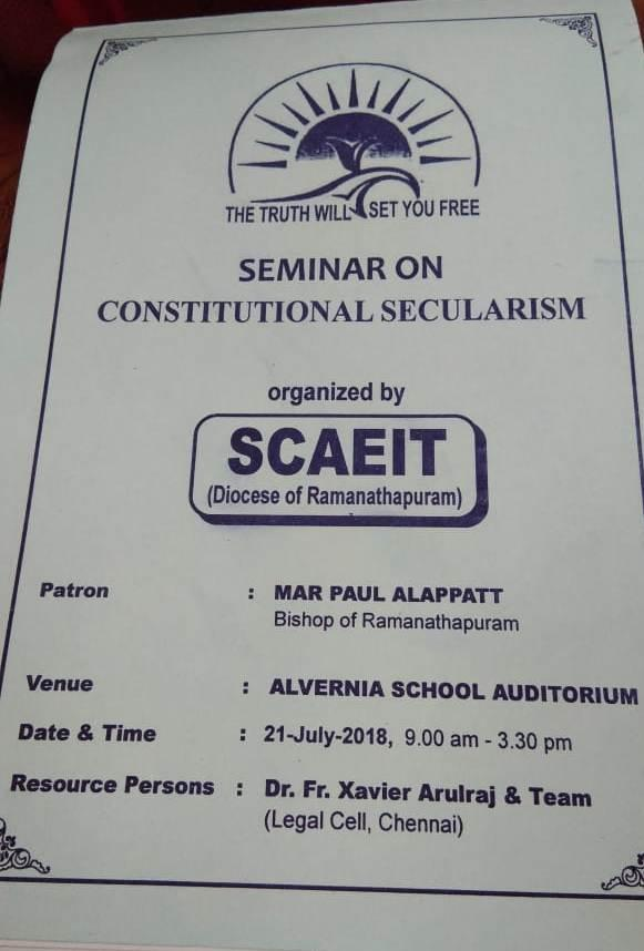 SEMINAR ON CONSTITUTIONAL SECULARISM