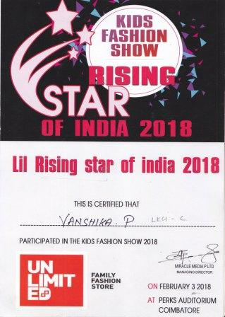 RISING  STAR  OF  INDIA  : 2018