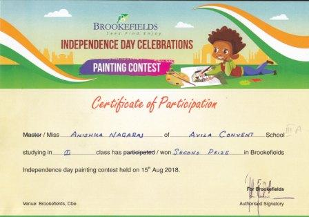 BROOKEFIELDS  INDEPENDENCE DAY PAINTING COMPETITION